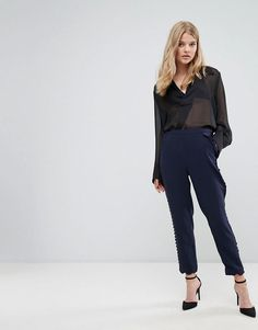 aa453f71255f7e Ted Baker Pant With Scallop Hem