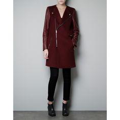 Zara Biker Coat With Zip ($250)
