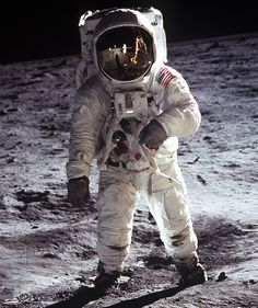 Buzz Aldrin, moon mission, 1969