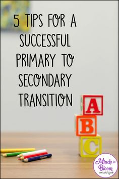 5 Tips for a Successful Primary to Secondary Transition Middle School Teachers, New Teachers, Elementary Teacher, Elementary Schools, Upper Elementary, High School, Education Uk, Continuing Education