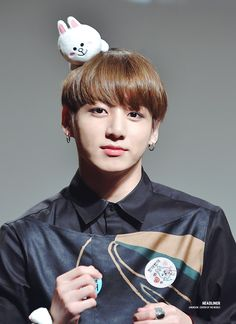 Jungkook © HEADLINER || that headband is super cute, just like the person wearing it