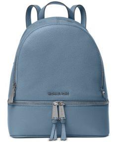 8a8f266d73ab33 MICHAEL Michael Kors Rhea Zip Medium Backpack | macys.com Leather Bag, Leather  Backpack