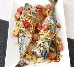 This fish, served whole and baked with Chinese flavours, makes a stylish meal for two. Grill it or pop it on the BBQ