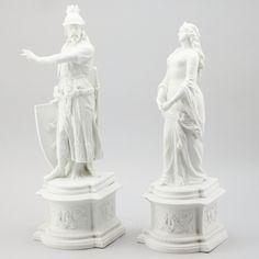 Par de estatuas em Parian da segunda metade do sec.19th, 51cm - 47cm de altura, 1,890 USD / 1,730 EUROS / 7,605 REAIS / 12,460 CHINESE YUAN soulcariocantiques.tictail.com