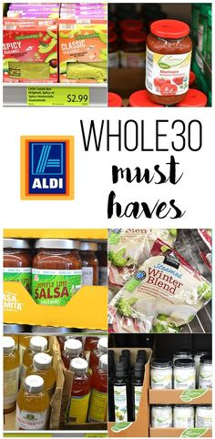 This shopping list for Whole30 Must Haves from ALDI is the perfect way to help you do Whole30 on a budget. From marinara to guacamole there are so many options!