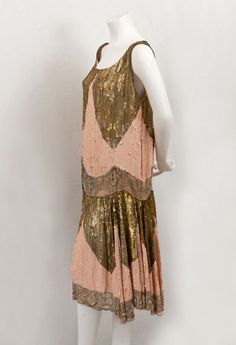 1925 pink & gold sequin flapper dress. i cant even express how much i love this.