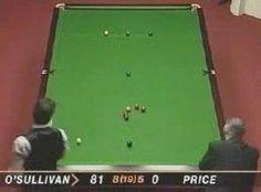 "Ronnie ""The Rocket"" O'Sullivan fastest 147."