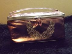 new metallic pink angel wing make up bag cosmetic travel case #Claires