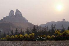 Yellow Chinese emperors Huangdi and Yandi, China