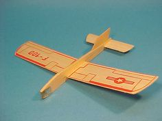 Balsa wood airplanes - we used to play with these, and the ones that had the rubberband you wound up so the propeller would spin