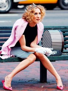 Carrie Bradshaw in a classic pair of satin Manolo Blahnik heels. It's been decades since we last saw Carrie and co. slipping into these high-shine beauties on the regular, but they've long...