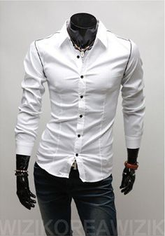 2013 Collection New Mens Stylish Fashion Suit Formal Casual Slim Fit Dress Shirt | eBay