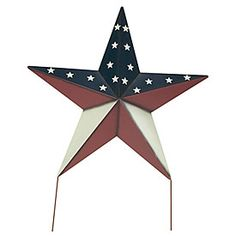 Patriotic Metal Star Yard Stake