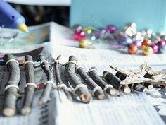 Tutoriel DIY: Fabriquer un sapin de Noël en morceaux de bois via DaWanda.com