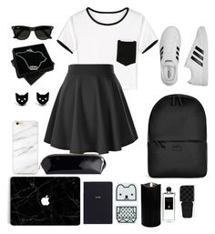 """""""Untitled #4"""" by evchik3152 ❤ liked on Polyvore featuring Rains, adidas, WithChic, Ray-Ban, Bynd Artisan, Boston Warehouse, Imm Living, Serge Lutens, Gucci and Finest Imaginary"""