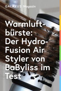 Mit ihrem 2-in-1-Konzept scheinen rotierende Warmluftbürsten die Föhnfrisur zu revolutionieren. In Natalie lösen sie Unbehagen aus. Dennoch wagt sie ihren ersten Versuch. Ob der neue «Hydro-Fusion Air Styler» von BaByliss Natalie das Jonglieren mit Föhn und Bürste erspart?