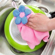 Household Floral Strong Absorbent Hands Coral Fleece Towel 2.56 USD