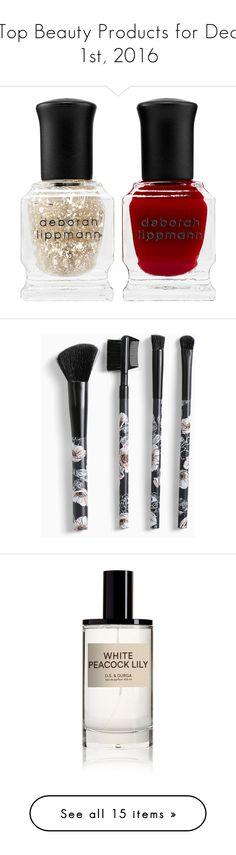 """Top Beauty Products for Dec 1st, 2016"" by polyvore ❤ liked on Polyvore featuring beauty products, nail care, nail polish, beauty, nails, deborah lippmann, deborah lippmann nail color, deborah lippmann nail lacquer, deborah lippmann nail polish and makeup"