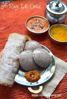 #healthy #vegan Ragi (Finger Millet) Idli Dosa, batter made using mixie.  Finger millet is rich is calcium, protein, iron etc..making your breakfast healthy now