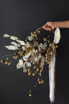 irregular wreath great for wall decor and can be done in any size ! Floral Wedding, Wedding Bouquets, Wedding Flowers, Dried Flower Wreaths, Dried Flowers, Deco Floral, Floral Design, Fleurs Diy, Flower Installation