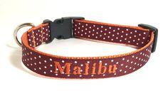 Personalized Dog Collar  Virginia Tech by TheMonogrammedMutt