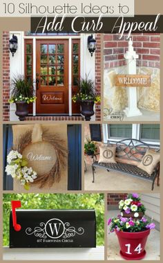 10 Silhouette Ideas to Add Curb Appeal to Your Home Cover mail box in burlap and dry brush with gold the monogram an m and the house numbers then clear coat the cramp out of it