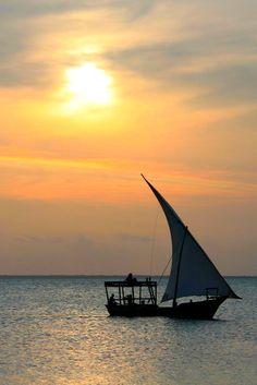 Sunset in Zanzibar, Tanzania