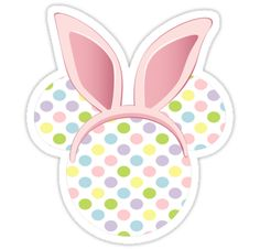 """Easter Mickey Mouse Bunny"" Stickers by sweetsisters 