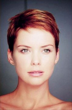Pixie Haircuts for Round Faces. I want something like this, very short on top, but with longer, edgy bangs.