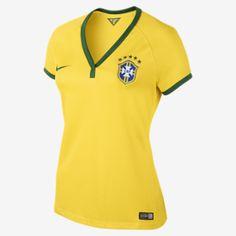 98a867e28d8b 2013 14 Brasil CBF Stadium Short-Sleeve Women s Soccer Jersey Brazil Shirt