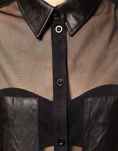 957af07399e0d0 I love this look Black Sheer Top