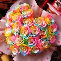 Rainbow Roses, Rainbow Art, Lavender Crafts, Beautiful Rose Flowers, Girl Life Hacks, Birth Flowers, Hibiscus, Wallpaper Backgrounds, Amazing Art