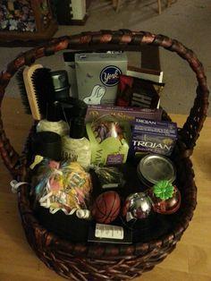 College easter basket for boy