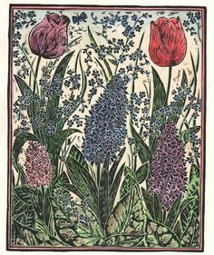 """April"" by Hannah Firmin (hand-coloured vinyl cut print)"
