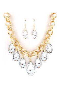 Dakota Necklace Set in Crystal