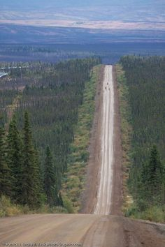 The James Dalton Highway is a 414-mile passageway between civilization and the Arctic Sea oil fields. Icy conditions and high winds turn the road into a slippery slide for drivers and truckers.