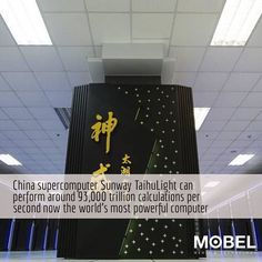 China builds world's most powerful supercomputer - Sunway TaihuLight (93 petaflop/sec)