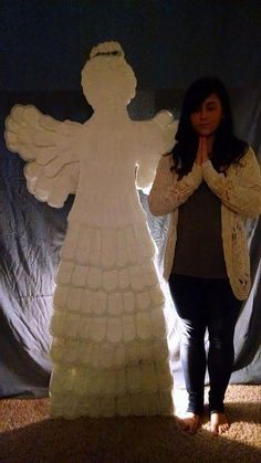 Angel made from feminine hygiene products. GISHWHES 2014
