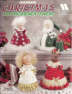 Crochet Christmas Air Freshener Covers Annie's Attic Santa Angel Reindeer & More