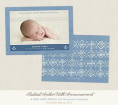 © heidi hope photography Birth Announcement Template Design