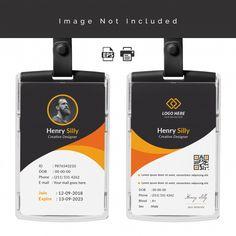Id Card Design Template Logo Design Template, Print Templates, Card Templates, Banner Vector, Banner Template, Real Estate Banner, Company Letterhead, Event Id, Business Card Psd