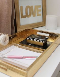 14 Organization Tips to Create the Chicest Desk Ever via Brit + Co