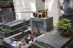 The world's most famous resting places: Jim Morrison's resting place, Pere Lachaise, Paris. Image by claytron