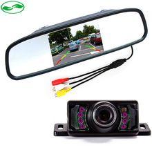 2σε1 Βίντεο Βοήθεια στάθμευσης αισθητήρα.  4,3 ιντσών αυτοκινήτου LCD αντιστροφή καθρέφτη οθόνη με 7 LED IR Night Vision κάμερα οπισθοπορείας (Κίνα (ηπειρωτική χώρα))
