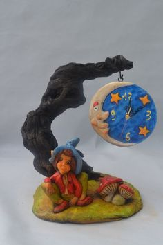 Hobbit, Polymer Clay Fairy, Clay Fairies, Baby Fairy, Play Clay, Clay Creations, Paper Mache, Troll, Biscuit