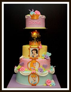 Disney Princess Cake (by Bellina Cakes) would love to be over the top and get this for alexa's bday!