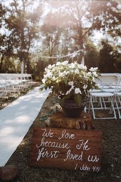 Sweet rustic wedding signage via Anni Graham Photography