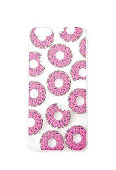 Clear Donut Print Phone Case
