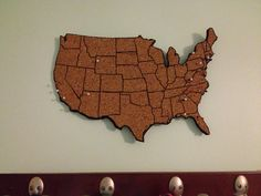 I absolutely love the idea of this cork board map - perfect gift for someone who loves to travel.