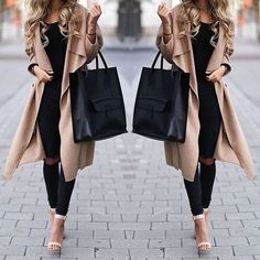 trench-coat-with-black-outfit- Amazing winter outfit details http://www.justtrendygirls.com/amazing-winter-outfit-details/